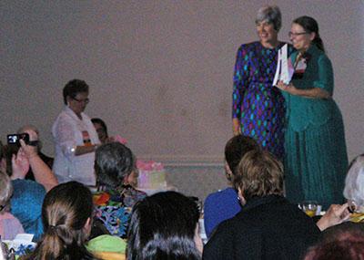 Susan Walton and NFPW President Marsha Shuler