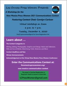 NMPW 2021 Communications Contest Workshop