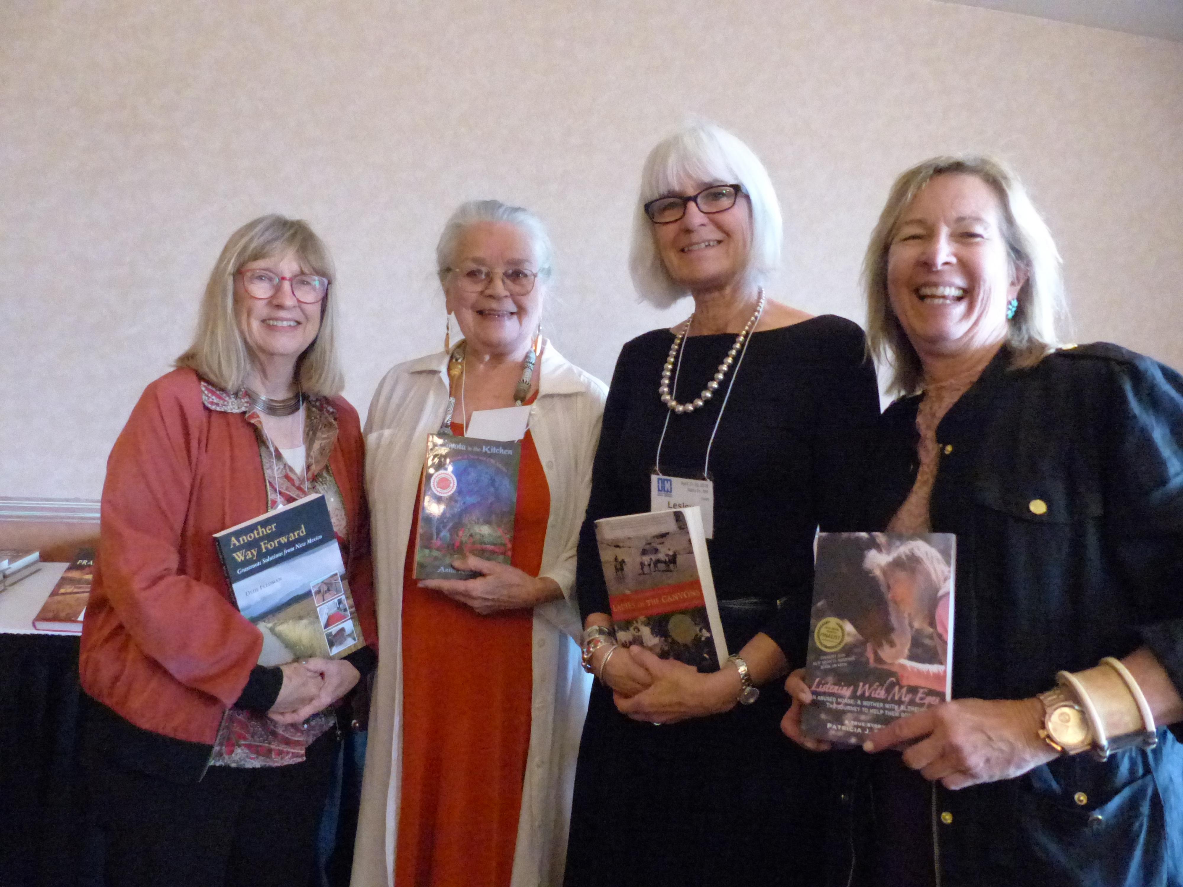 (l to r) Dede Feldman, Anita Rodriquez, Lesley Poling-Kempes, Patricia J. Conoway