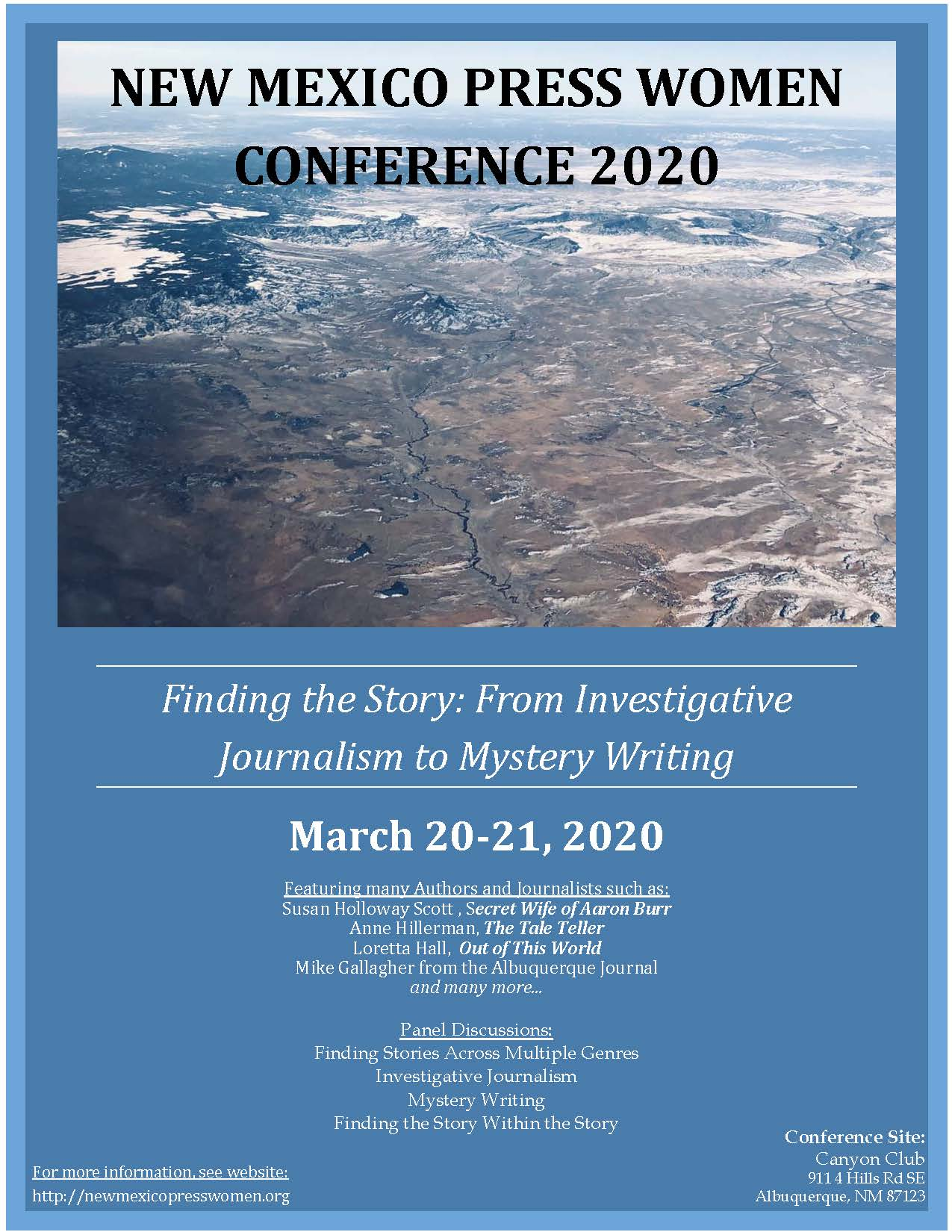 New Mexico Press Women Conference flyer
